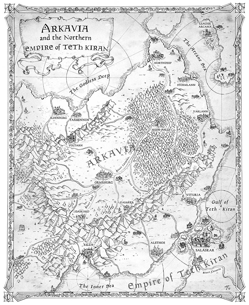 Map of Arkavia Northern Empire